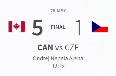 Canada vs Czechia 5-1 Semi Final 25.05.2019
