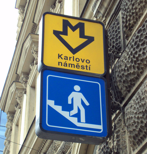 Karlovo Namesti Metro Sign