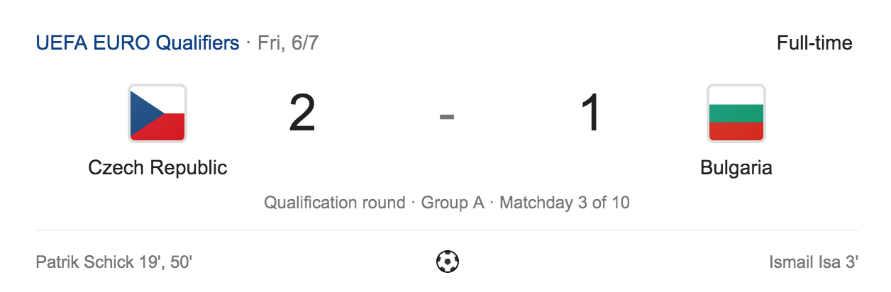 Czechia 2 - Bulgaria 1, 2020 European Qualifiers group A