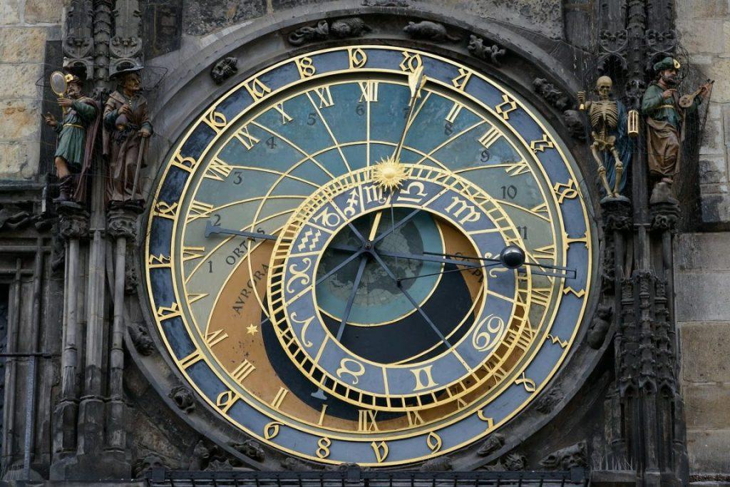 Astronomical clock face close