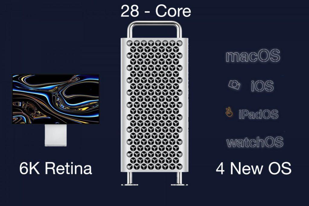 6k Retina, 28 Core Mac Pro, macOS Catalina, IOS, iPadOS, WatchOS, 6k Retina