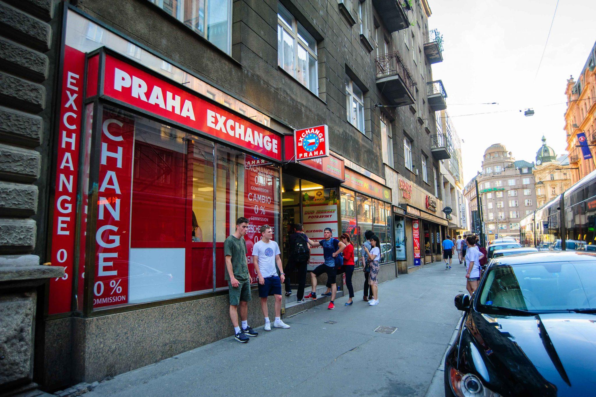 Praha Exchange Office nearby Wenceslas Square