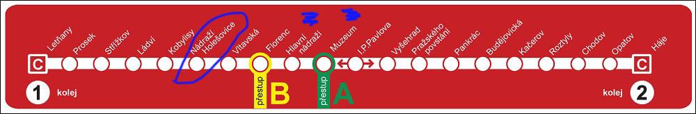 Prague Metro C Line (red)